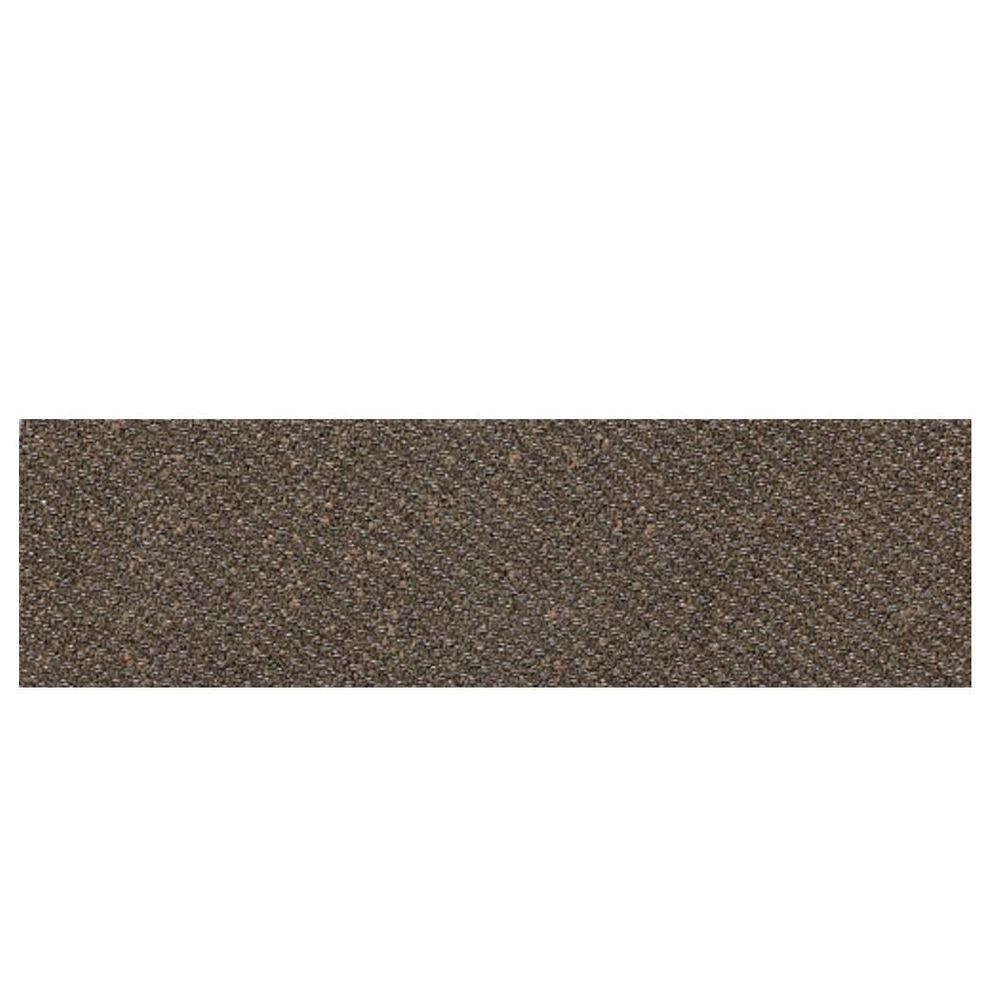 Daltile Identity Oxford Brown Fabric 4 in. x 12 in. Porcelain Bullnose Floor and Wall Tile-DISCONTINUED