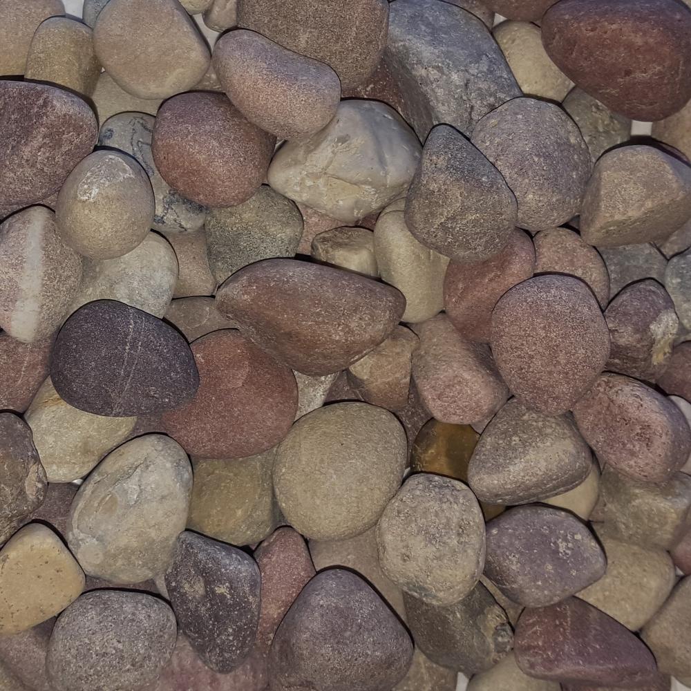 0.50 cu. ft. 40 lb. 3/4 in. Pami Multi-Color Decorative Landscaping Pebble