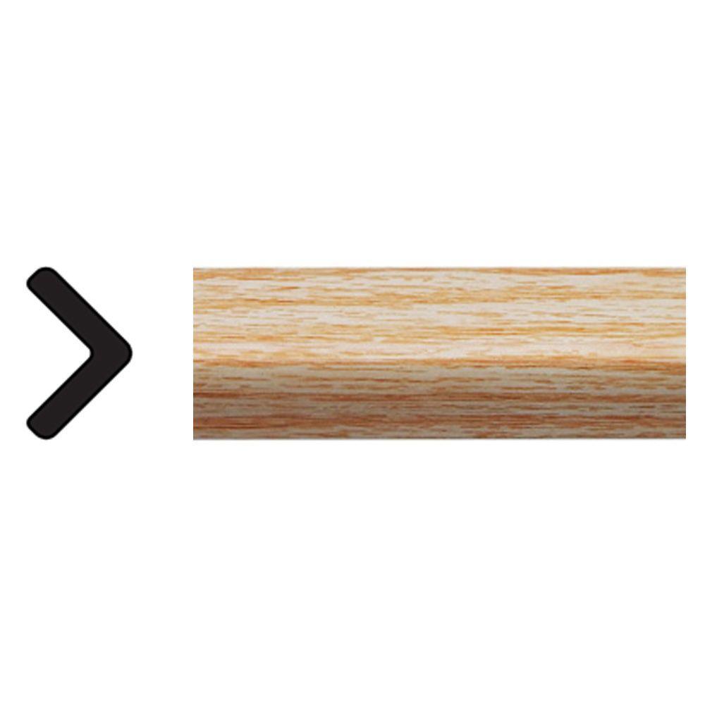 1 in. x 1 in. x 96 in. Polystyrene Clearwood Outside Corner Moulding