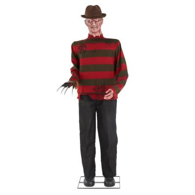 6 ft. Halloween Animated Freddy Krueger