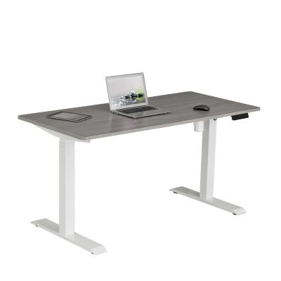 59 in. Rectangular Gray Standing Desk with Adjustable Height Feature