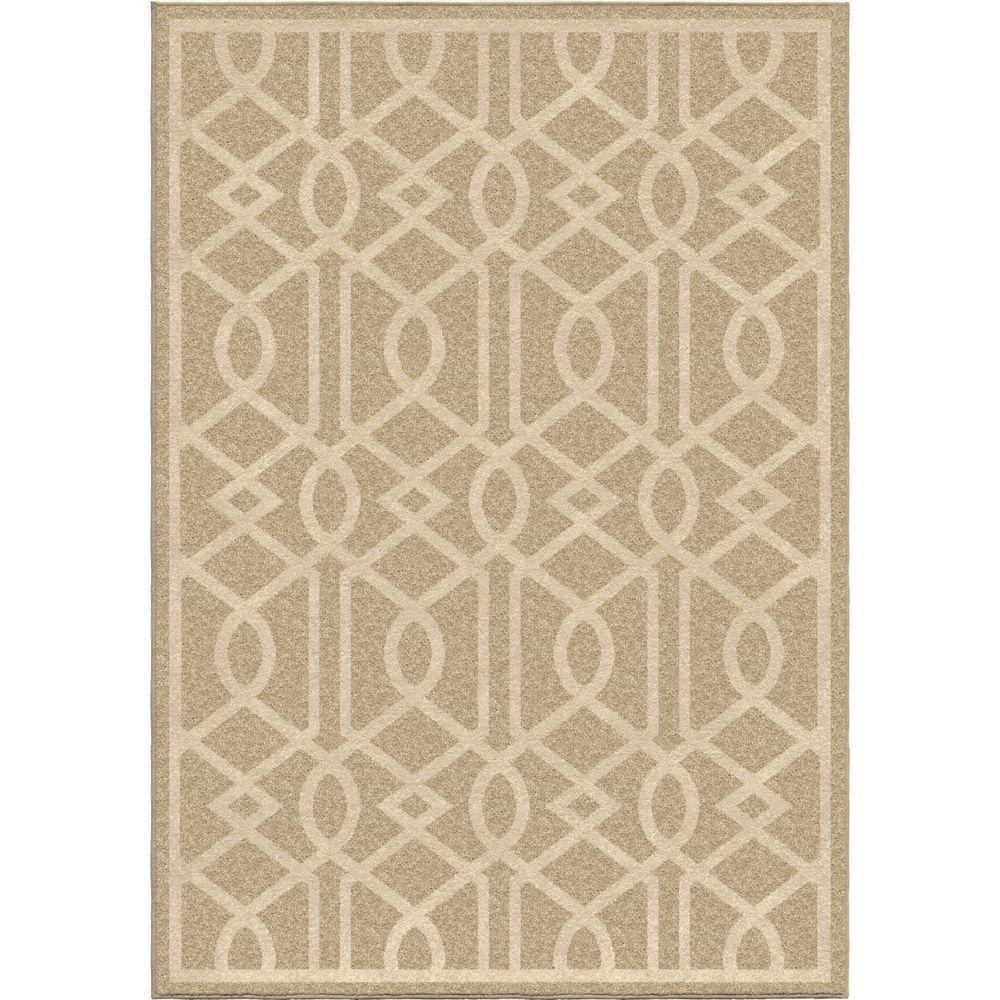 Orian Rugs Patterson Charcoal: Orian Rugs Shafer Beige Trellis 8 Ft. X 11 Ft. Indoor