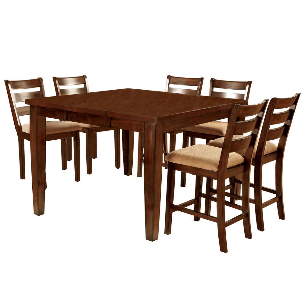 Priscilla I 7-Piece Antique Oak Bar Table Set