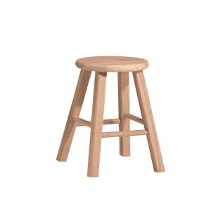18 In Unfinished Wood Bar Stool