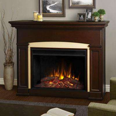 Holbrook 59 in. Grand Series Electric Fireplace in Dark Walnut