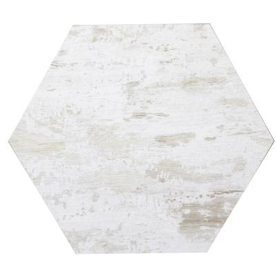Nature Birchwood White Hexagon 8 in. x 8 in. Matte Glass Wall Tile (0.4 Sq. ft.)