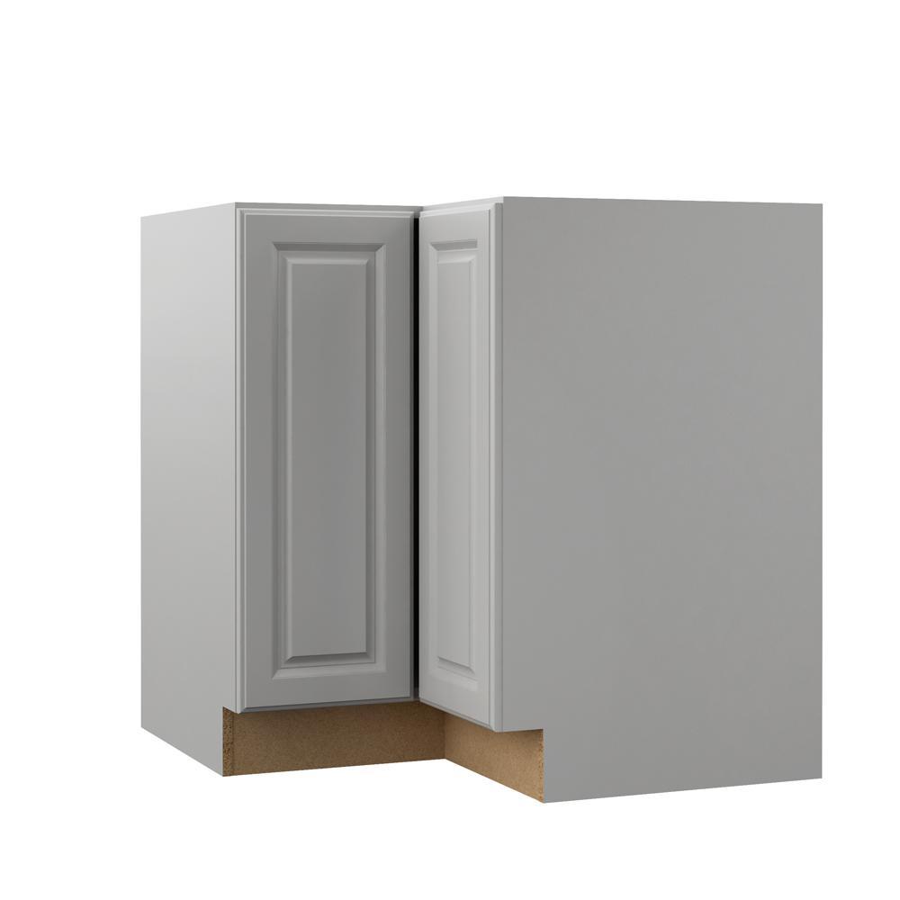Elgin Assembled 33x34.5x20.25 in. Lazy Susan Corner Base Kitchen Cabinet in Heron Gray