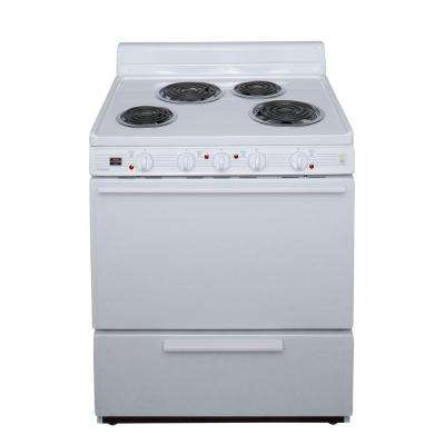 30 in. 3.91 cu. ft. Electric Range in White