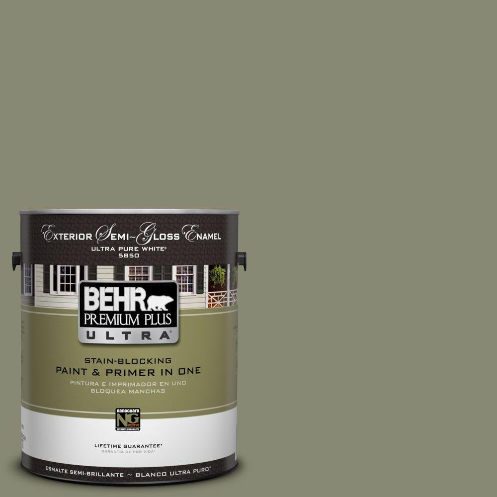 1-Gal. #UL210-5 Aloe Thorn Semi-Gloss Enamel Exterior Paint