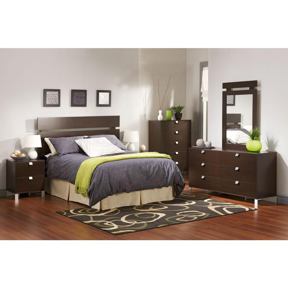 South Shore Spark 6-Drawer Chocolate (Brown) Dresser