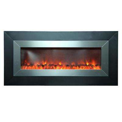 Stunner 53 in. Wall-Mount Electric Fireplace in Black