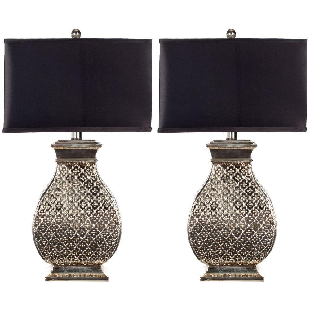 Safavieh Malaga 30 in. Silver Table Lamp (Set of 2)