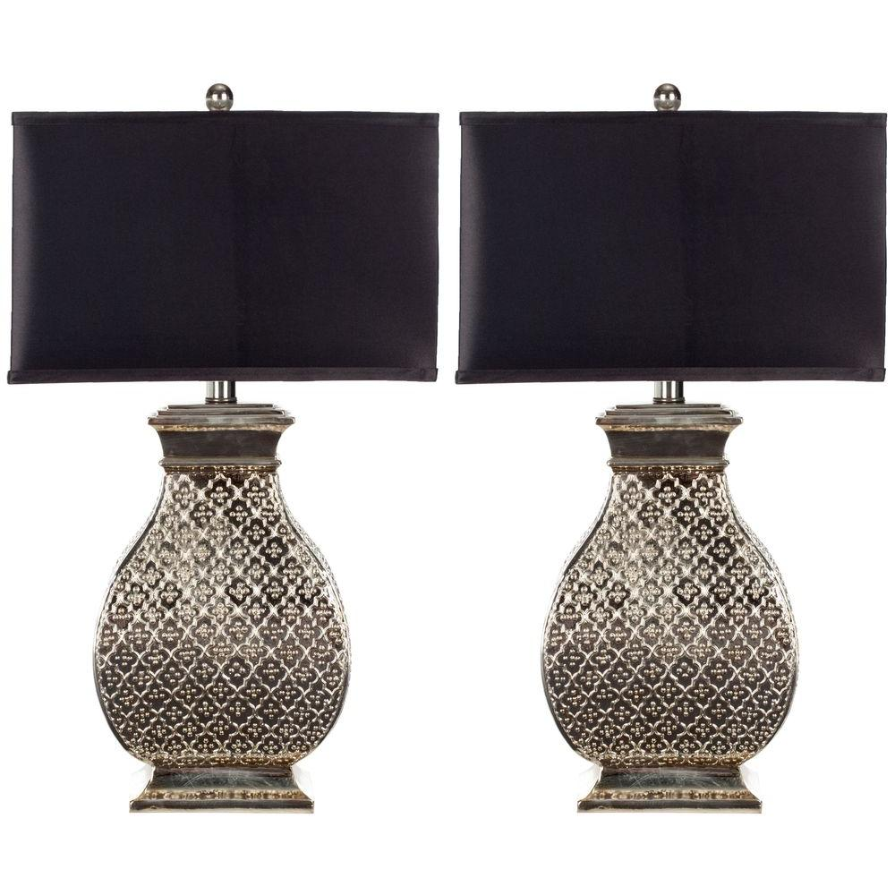 Amazing Silver Table Lamp (Set Of 2)