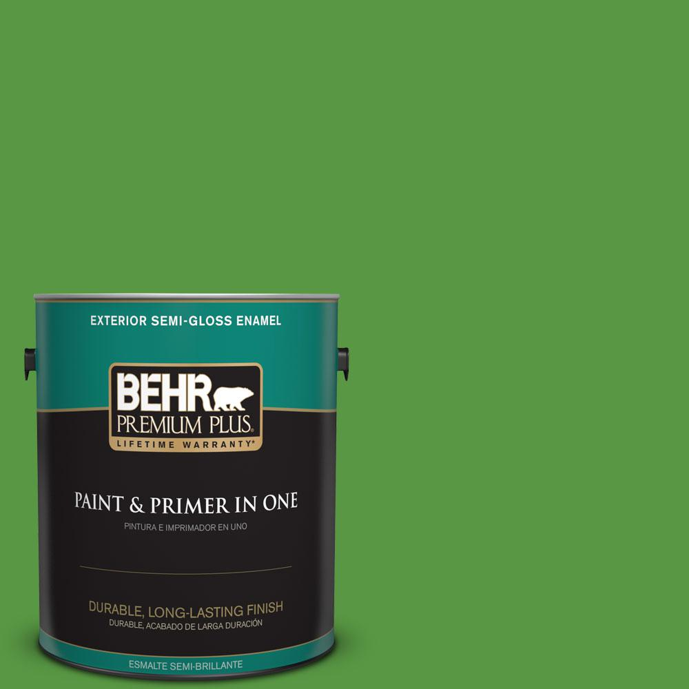 1-gal. #430B-7 Cress Green Semi-Gloss Enamel Exterior Paint
