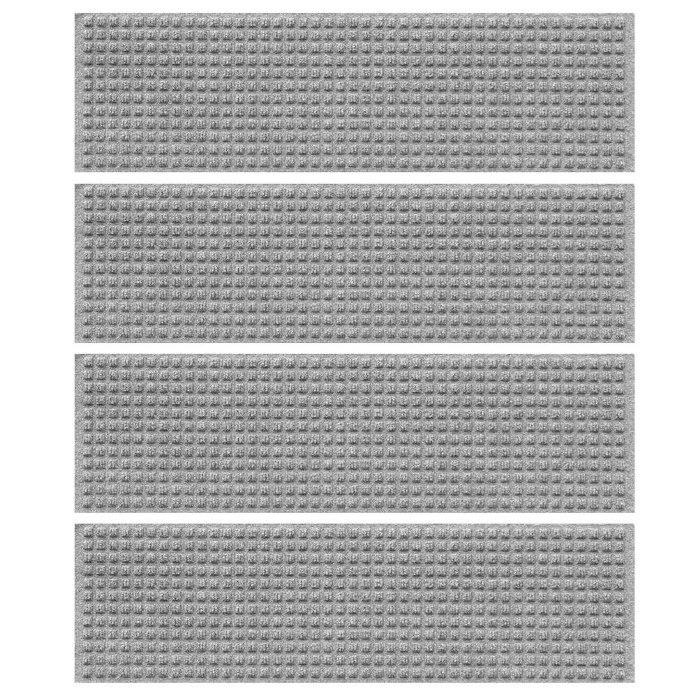 Medium Gray 8.5 in. x 30 in. Squares Stair Tread (Set