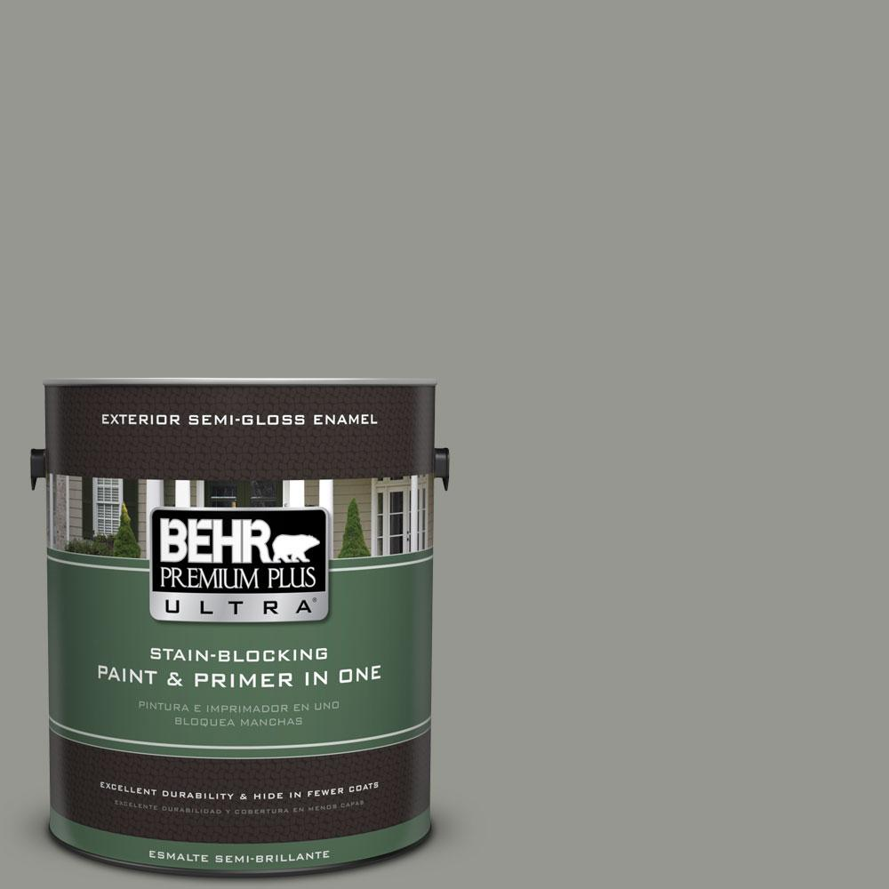 BEHR Premium Plus Ultra 1-gal. #ECC-36-1 Shady Willow Semi-Gloss Enamel Exterior Paint