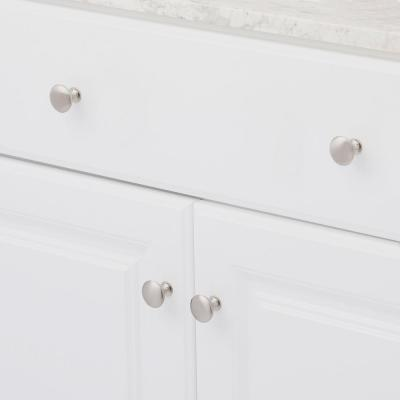 1-1/5 in. (30 mm) Brushed Nickel Cabinet Knob (10 per Pack)