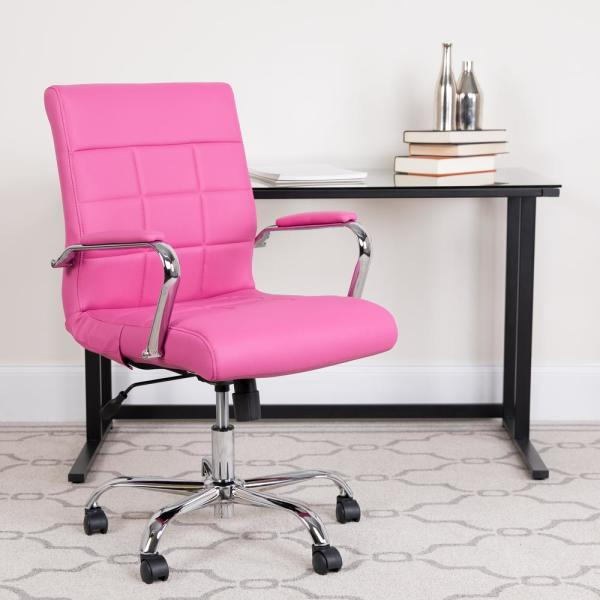Flash Furniture Pink Office Desk Chair Go2240pk The Home Depot