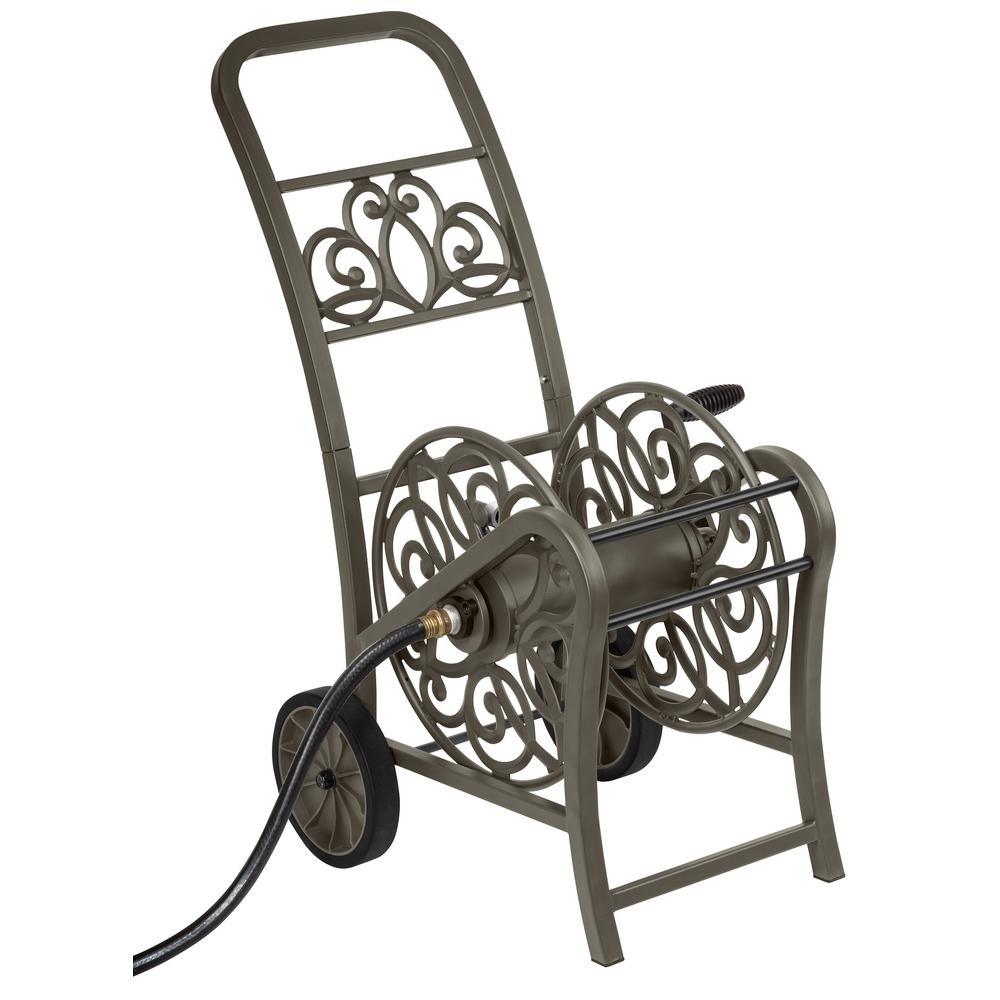 Decorative Metal Hose Reel Cart