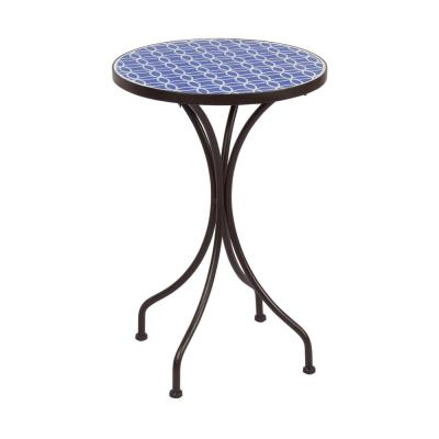 Costa Mosaic Metal Outdoor Side Table