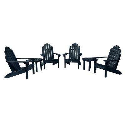 Classic Wesport Federal Blue 6-Piece Plastic Patio Fire Pit Seating Set