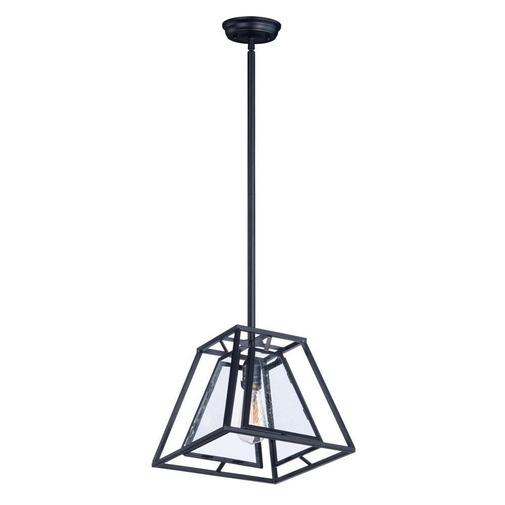 Maxim Lighting Era 1-Light Black Pendant Maxim Lighting's commitment to both the residential lighting and the home building industries will assure you a product line focused on your lighting needs. With Maxim Lighting accessories you will find quality product that is well designed, well priced and readily available. Maxim has fixtures in a variety of styles and a strong presence in the energy-efficient lighting industry, Maxim Lighting is the clear choice for quality lighting.