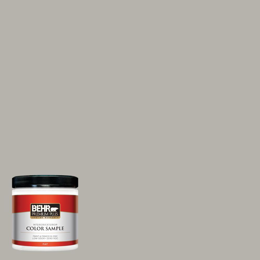 Behr Premium Plus 8 Oz Ppu24 11 Greige Flat Interior Exterior Paint