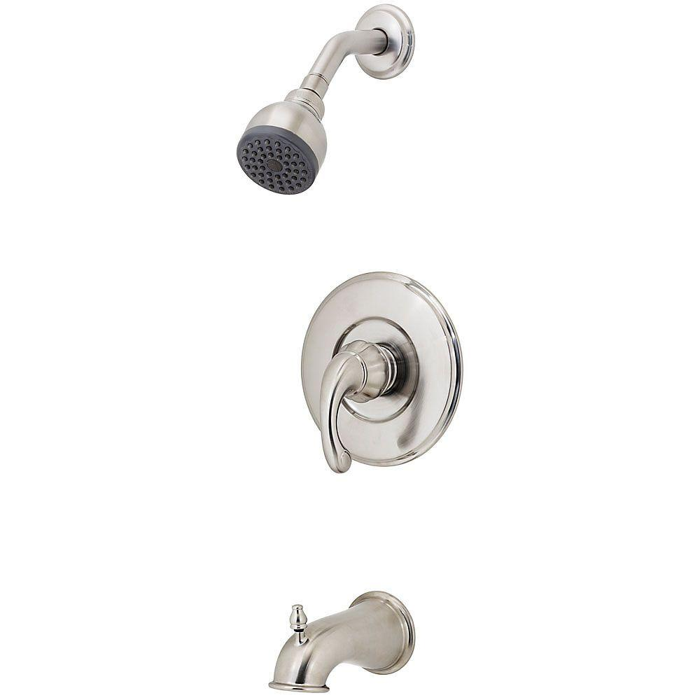 Pfister Treviso Single-Handle Tub and Shower Faucet Trim Kit in Brushed Nickel (Valve Not Included)