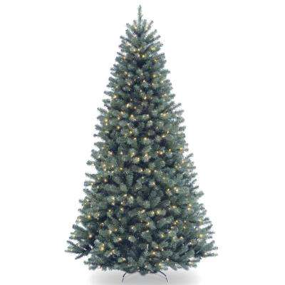 7 ft. North Valley Spruce Blue Hinged Tree with 550 Clear Lights