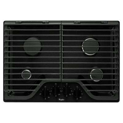 30 in. Gas Cooktop in Black with 4 Burners including 18000-BTU SpeedHeat Burner