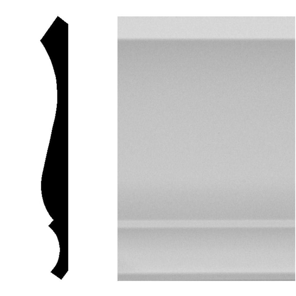 House of Fara 9/16 in. x 5-1/4 in. x 96 in. MDF Primed Crown Moulding