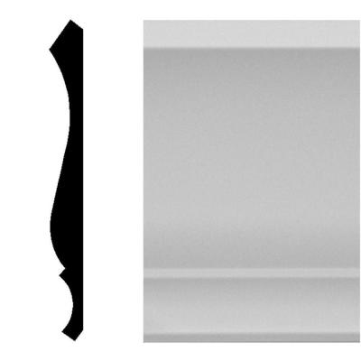 9/16 in. x 5-1/4 in. x 96 in. MDF Primed Crown Moulding