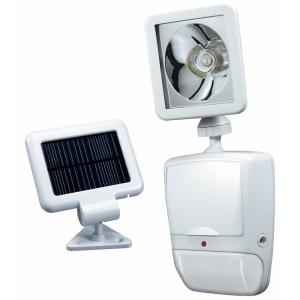 180 Degree White Motion Sensing Solar Powered LED Outdoor Security Light