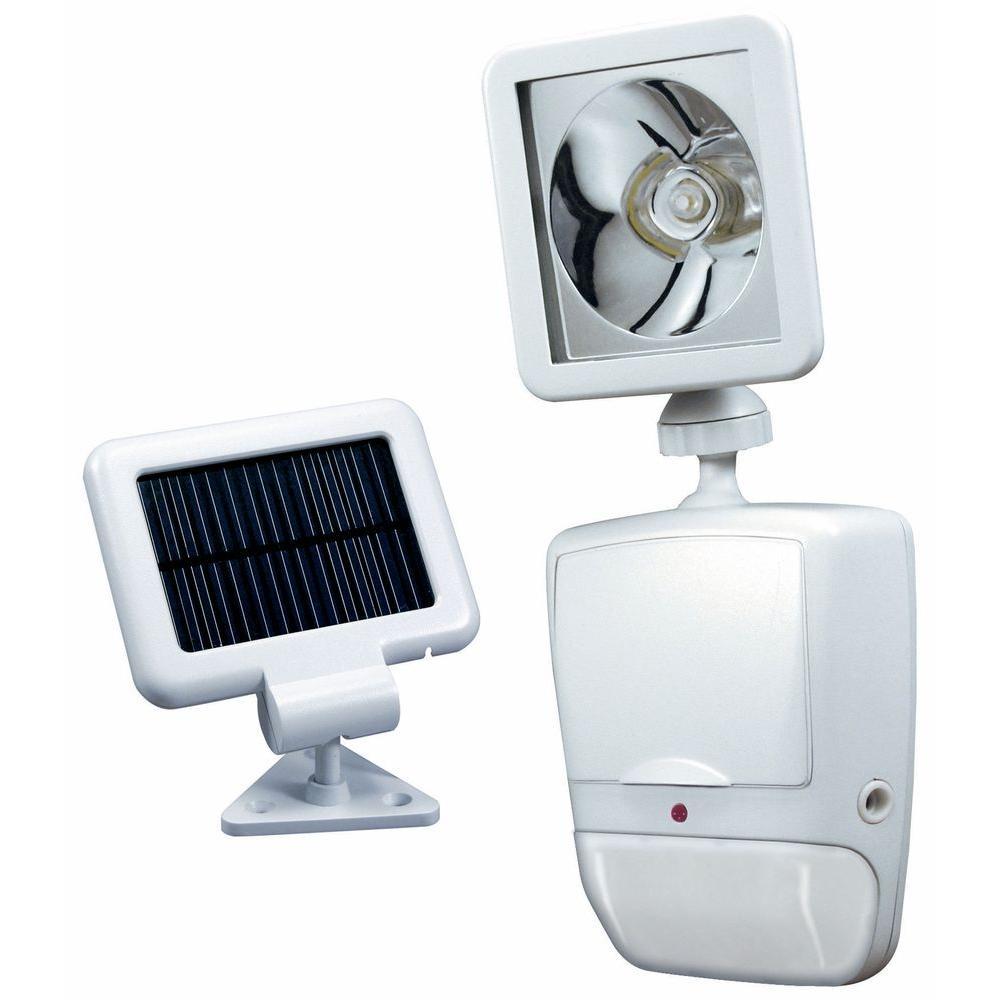 180 Degree White Motion-Sensing Solar-Powered LED Outdoor Security Light