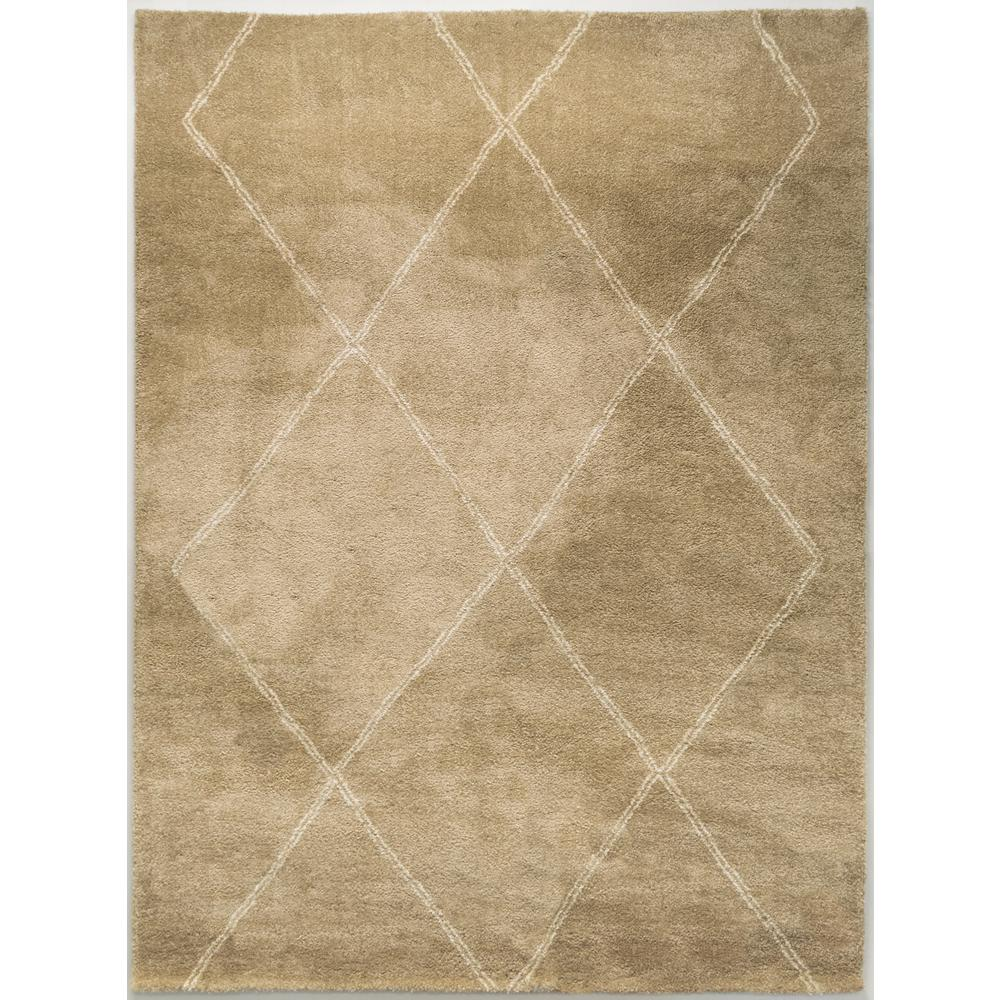Home Decorators Collection Diamond Maze Tan 7 ft. 10 in. x 10 ft. Area Rug