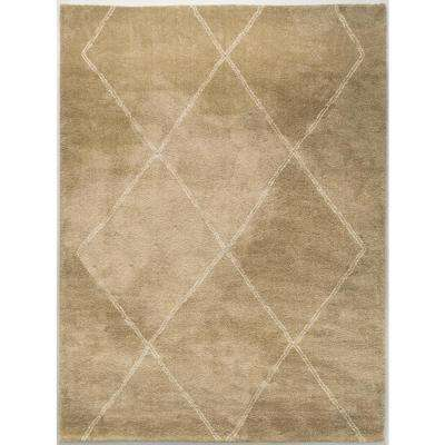 Diamond Maze Tan 7 ft. 10 in. x 10 ft. Area Rug