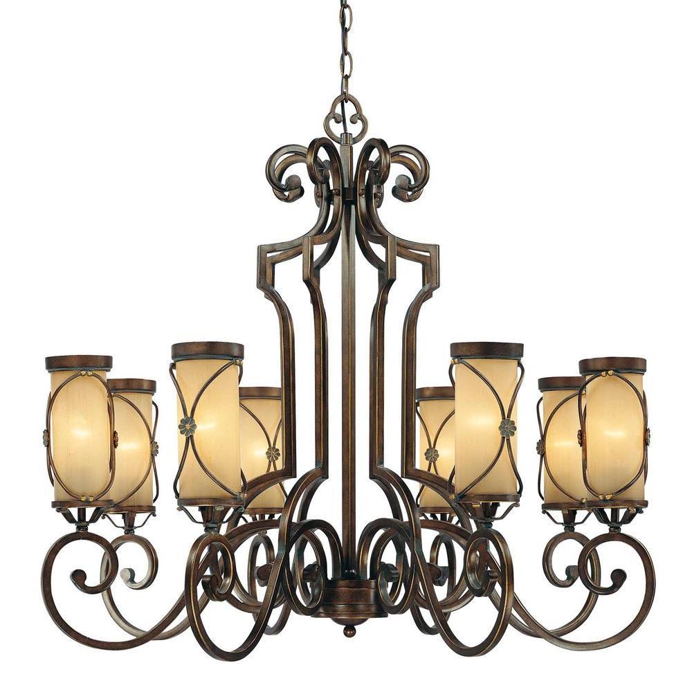 Minka Lavery Atterbury 8-Light Deep Flax Bronze Chandelier