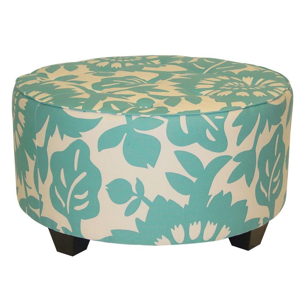 Home Decorators Collection Georgetown Round Surf Cocktail Ottoman