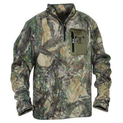 Men's Extra Large MC2 Camouflage Fleece in 1/4 Zip Top
