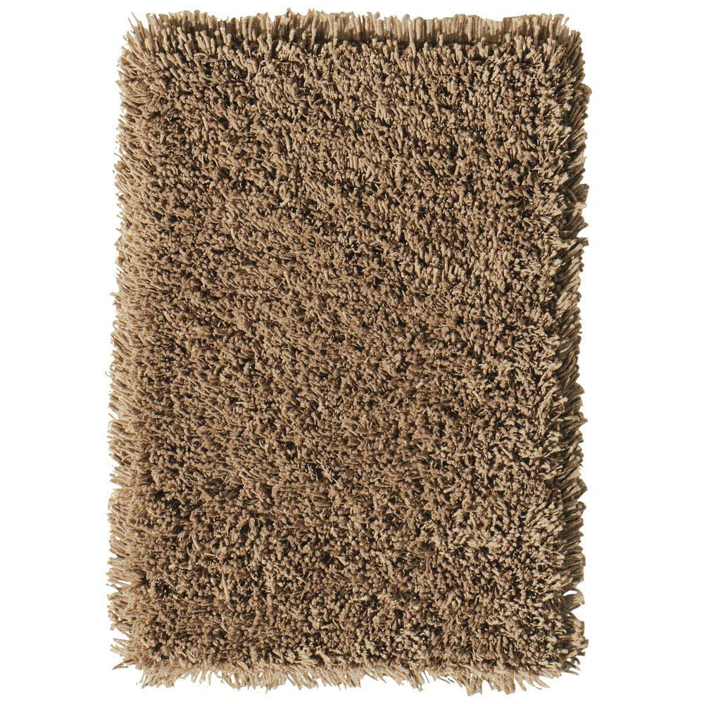 Home Decorators Collection Ultimate Shag Light Brown 2 ft. x 5 ft. Accent Rug