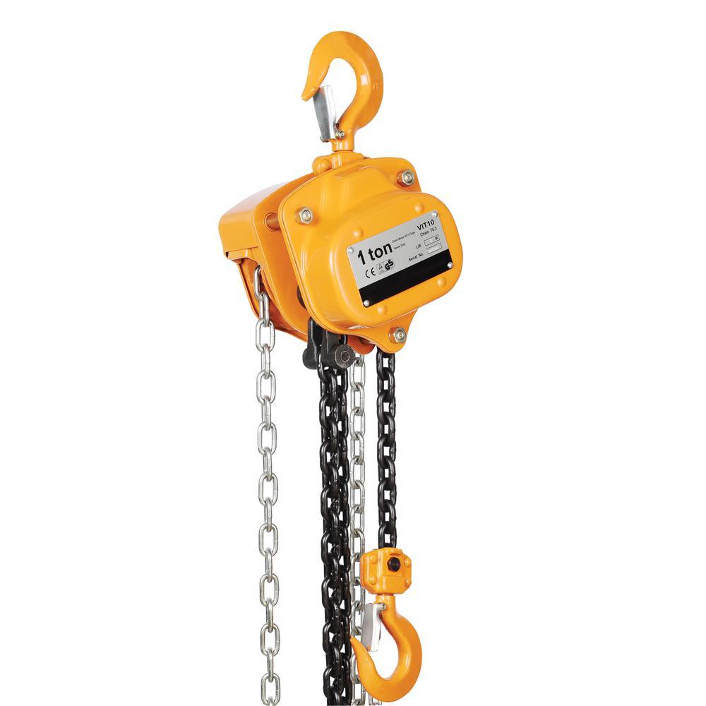 1,000 lbs. Capacity 20 ft. Professional Chain Hoist