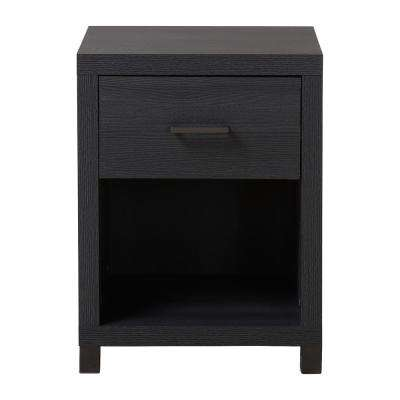 Thornton 1-Drawer Onyx Nightstand
