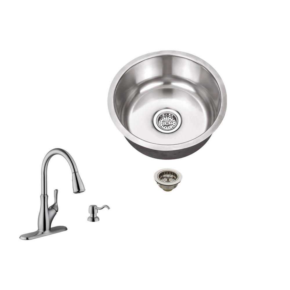 18 Gauge Stainless Steel Bar Sink In Brushed