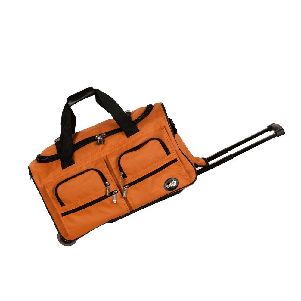 Rockland Voyage 22 in. Rolling Duffle Bag, Orange
