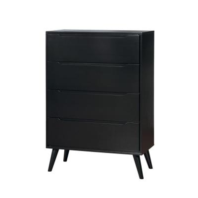 Lennart II 4-Drawers Black Mid-Century Modern Style Chest