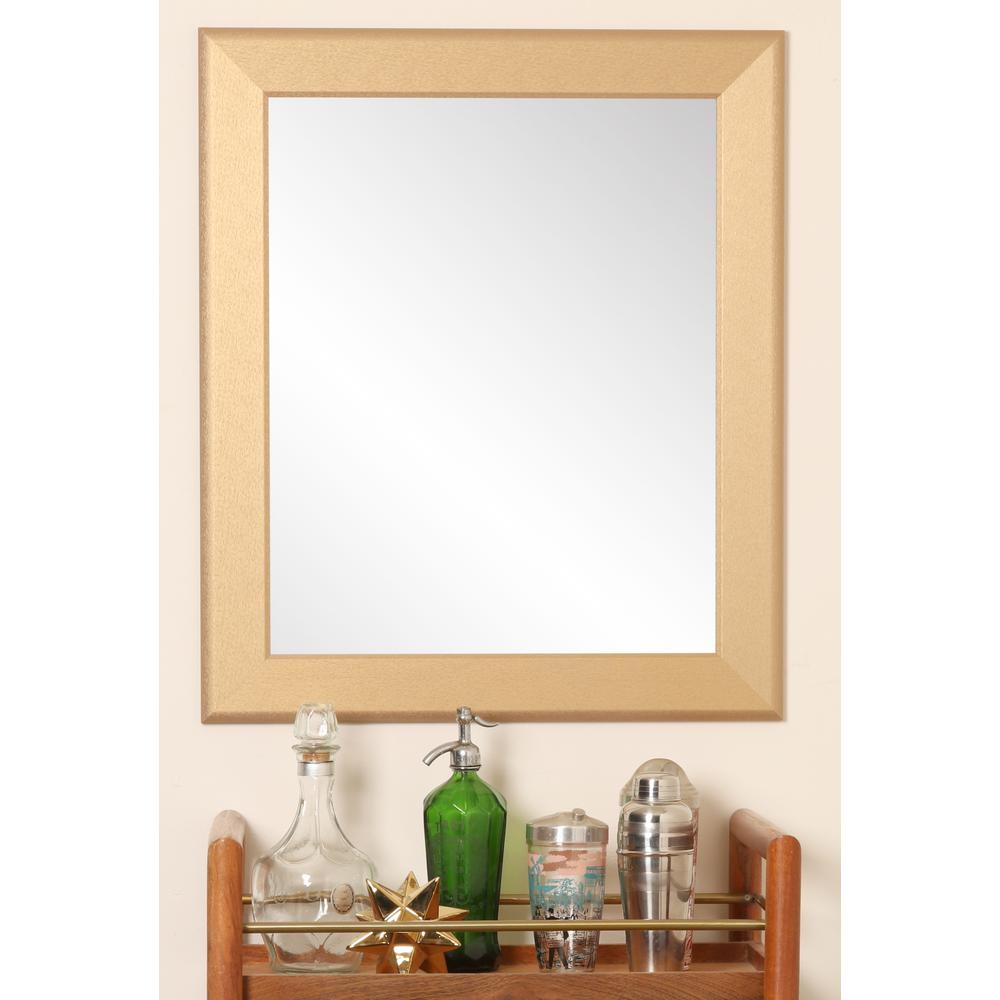 5d6a97d435c6 BrandtWorks 22 in. x 32.5 in. Contemporary Gold Pop Accent Mirror ...