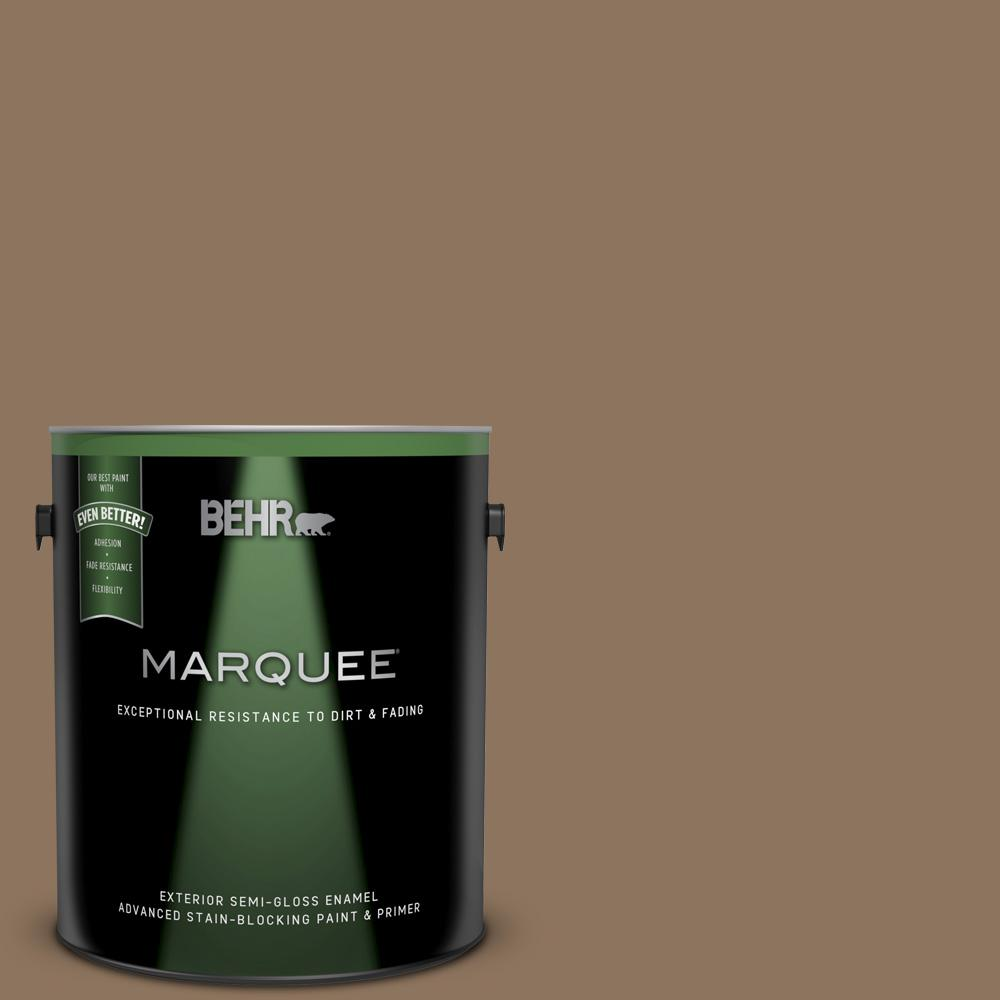 Behr Marquee 1 Gal 700d 6 Belgian Sweet Semi Gloss Enamel Exterior Paint And Primer In One 545301 The Home Depot