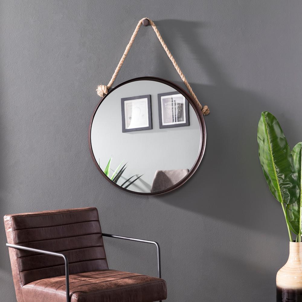 Lora Black Decorative Hanging Mirror