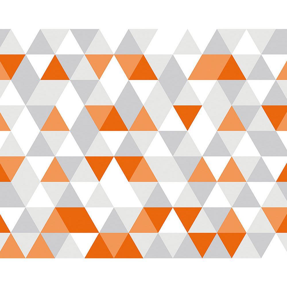 Bright Orange Geometric Wall Mural