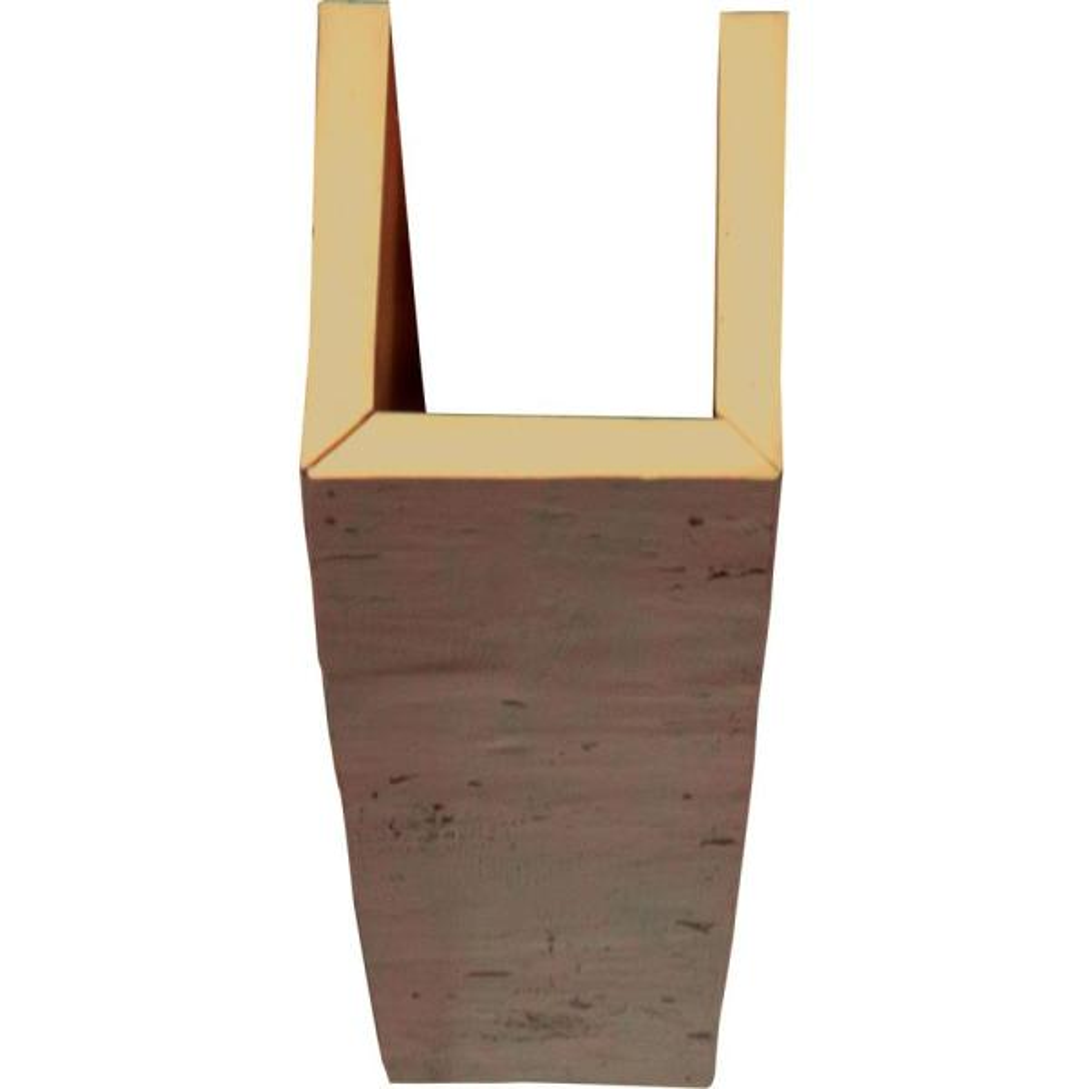 Ekena Millwork 6 In X 4 In X 8 Ft 3 Sided U Beam Knotty Pine Premium Mahogany Faux Wood Ceiling Beam Bmkp3c0040x060x096zm The Home Depot